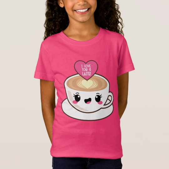 Love You A Latte EMoji T-Shirt