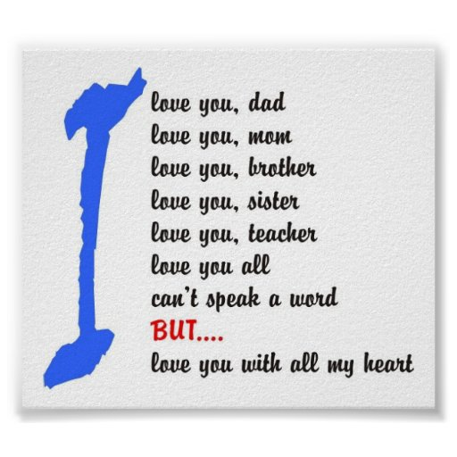 love you all poster autism