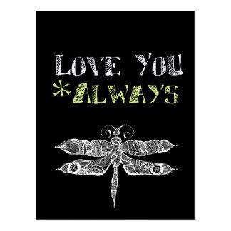 Love You Always Chalkboard Postcard