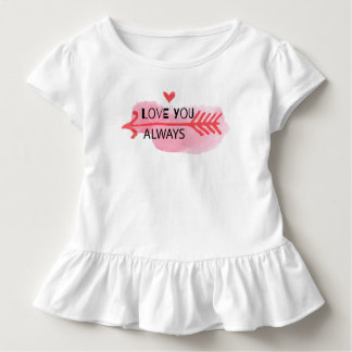 Love You Always Valentine's Day | Ruffle Tee
