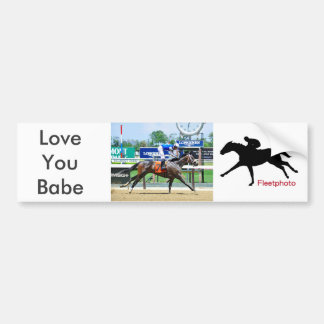 Love You Babe Bumper Sticker