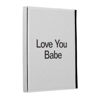 Love You Babe iPad Cases