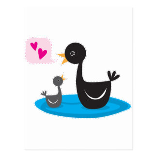 love you baby swan postcard