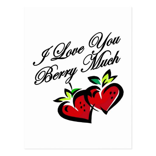Love you berry much post cards
