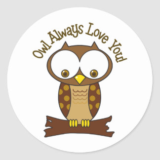 Love You Classic Round Sticker