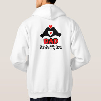 ❤↷Love You Dad, You are My Hero Classic Basic Hoodie