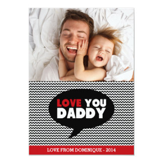 Love You Daddy | Photo Happy Father's Day Card 13 Cm X 18 Cm Invitation Card