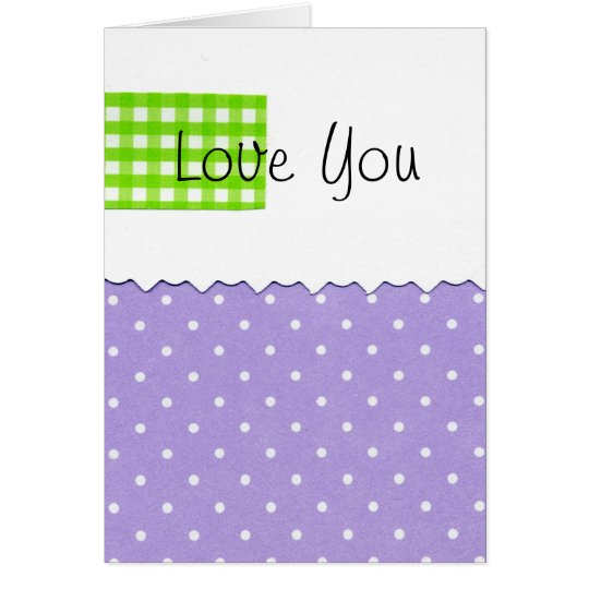 Love You Dots Card