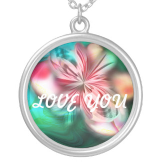 Love You Flower Necklace