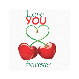 Love you forever stretched canvas print