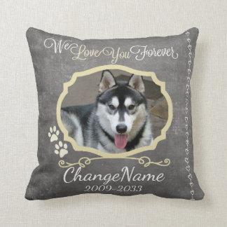 Love You Forever Dog Memorial Keepsake Cushion