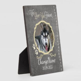 Love You Forever Dog Memorial Keepsake Display Plaques