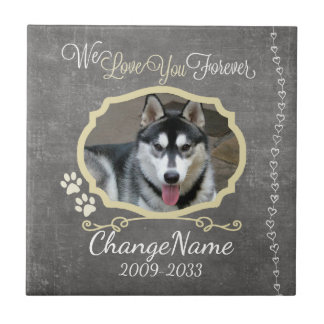 Love You Forever Dog Memorial Keepsake Small Square Tile