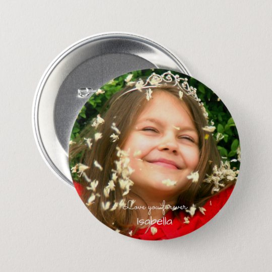 Love you Forever | your name and photo 7.5 Cm Round Badge