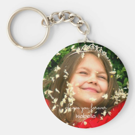 Love you Forever | your photo and name Key Ring