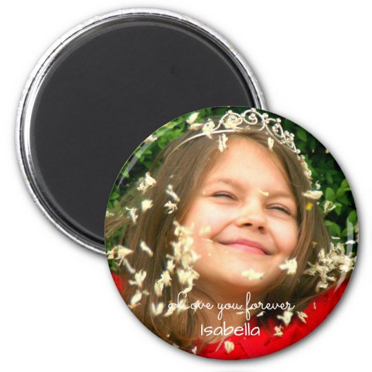Love you Forever | your photo and name Magnet