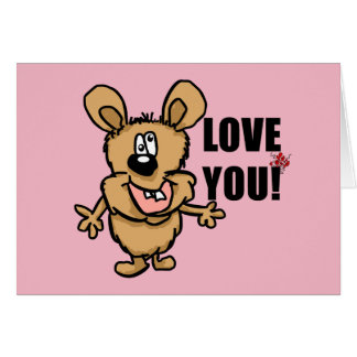 Love you fun cartoon character card