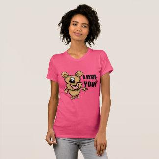 Love you fun cartoon character t-shirt