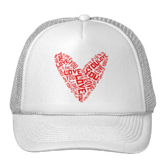 Love You Heart Cap