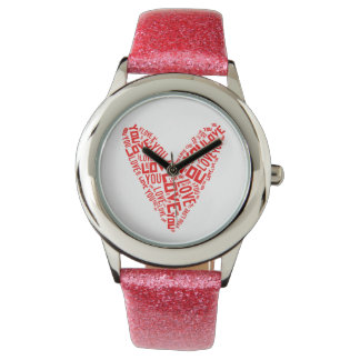 Love You Heart Watch