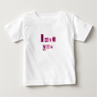 Love You in Pink Letters Tee Shirt Infant