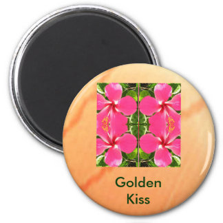 LOVE you KISS you 6 Cm Round Magnet