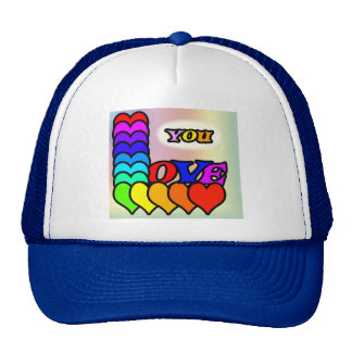 Love You Line Mesh Hats