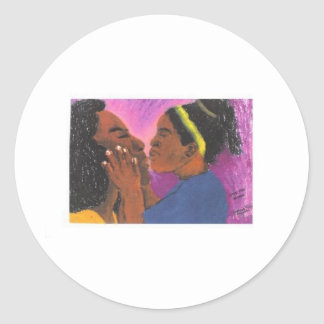 Love You Mama Classic Round Sticker