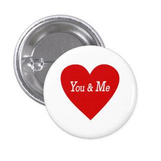 Love  You & Me Button