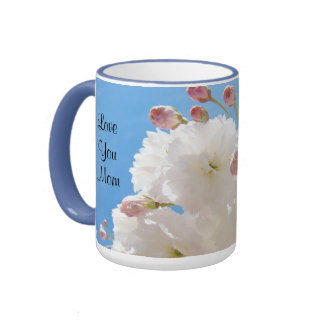 Love You Mom mugs Holiday Gifts Blossom Flowers