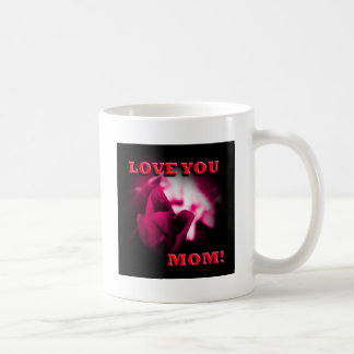 Love You Mom red rose design Coffee Mugs