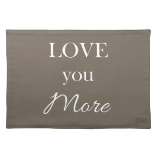 Love You More Heart Pillow Valentines Placemats