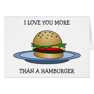"LOVE YOU MORE THAN A HAMBURGER ""HAPPY ANNIVERSARY"" CARD"