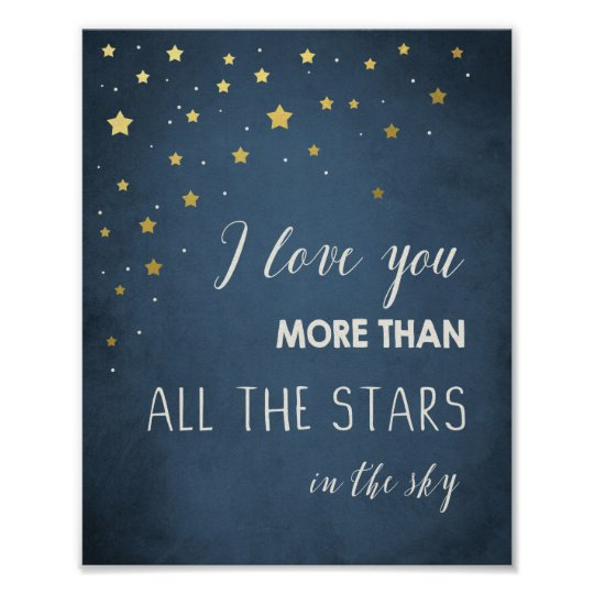Love you more than all the stars Quote