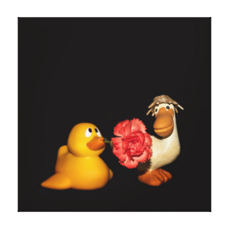 Love you Mrs Duck Canvas Print
