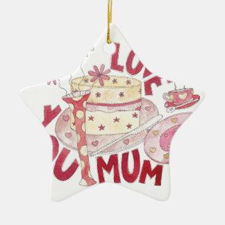 Love You Mum Ceramic Star Decoration