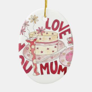 Love You Mum Christmas Ornament