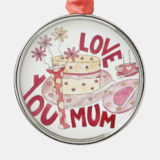 Love You Mum Christmas Ornament