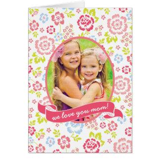 Love you Mum Floral Personalised Custom Photo