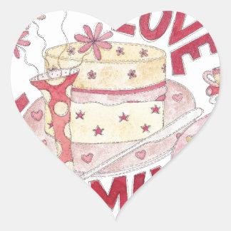 Love You Mum Heart Sticker