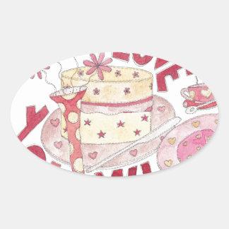 Love You Mum Oval Sticker