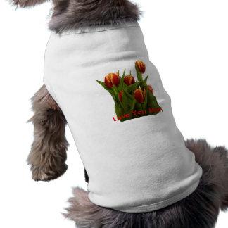 Love You Mum - Tulips The MUSEUM Zazzle Sleeveless Dog Shirt
