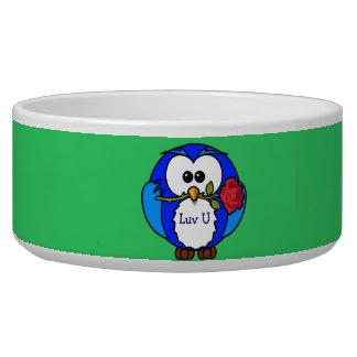 Love You Owl Dog Bowls