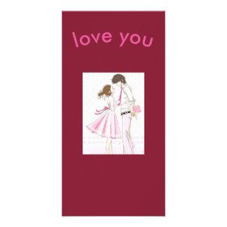 love you photocard photo greeting card