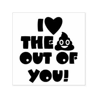 Love You Poo Custom Stamp