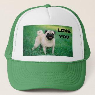 LOVE YOU PUG CAP