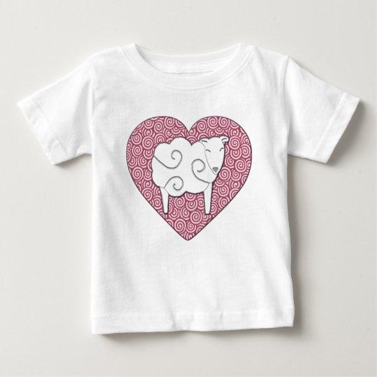 Love You Pun Heart with Sheep Shirt