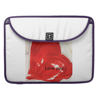 "Love you:) Rickshaw flap sleeve Macbook Pro 15"" MacBook Pro Sleeve"