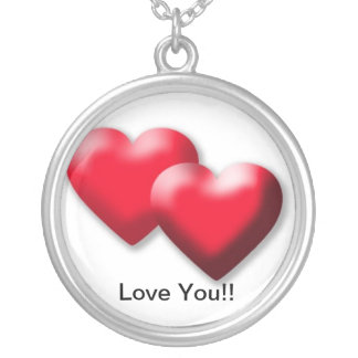 Love You Round Pendant Necklace
