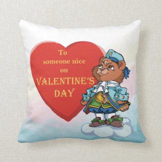 Love You Teddy Bear Prince Cushion